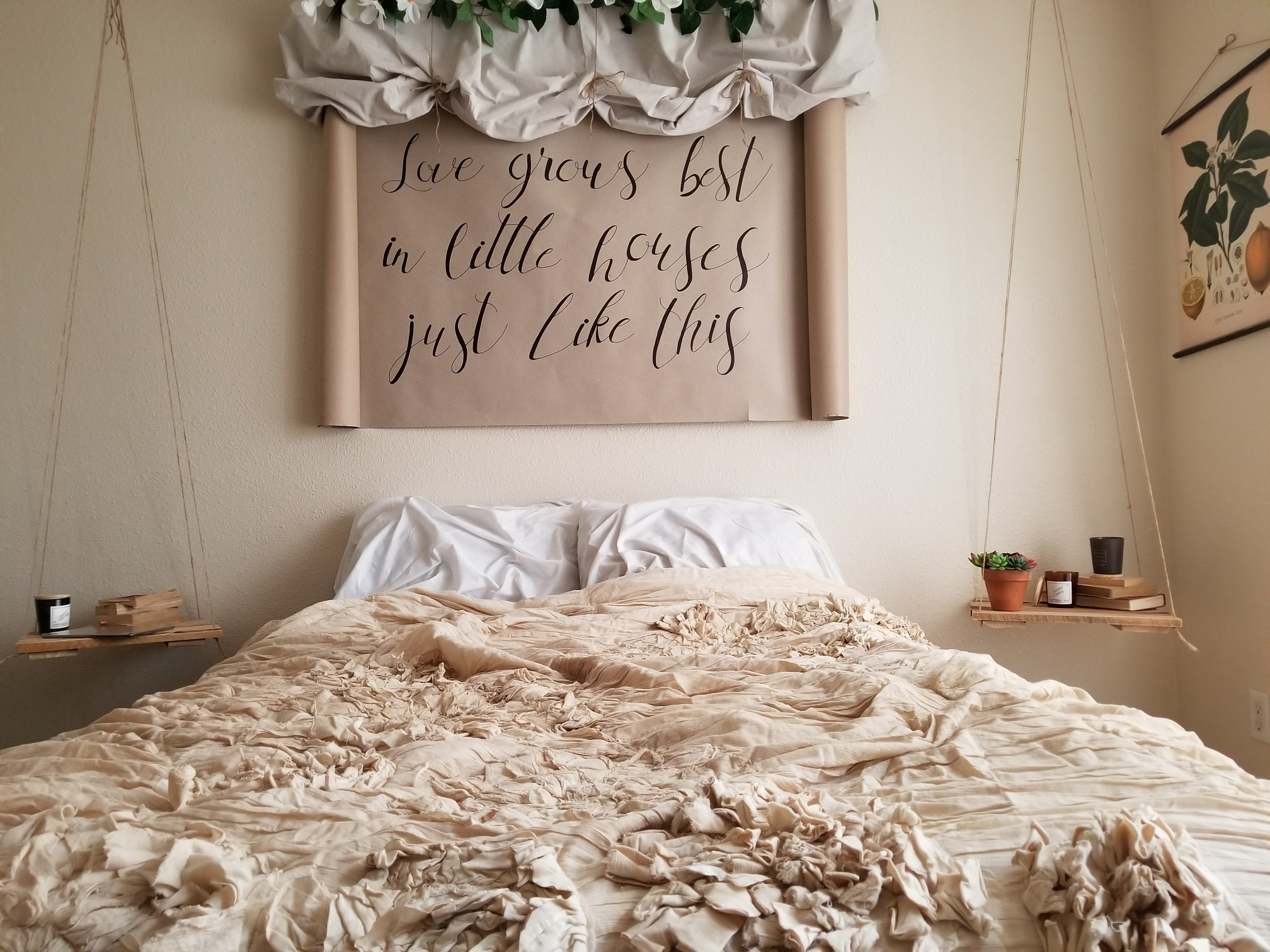 Diy Calligraphy Wall Art Scroll Heather Paige Blog
